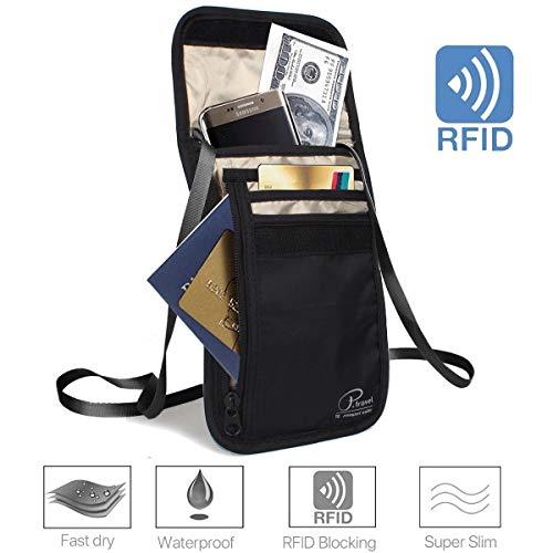 14a045e330 HOUSON - Borsello da Viaggio, con Blocco RFID, antifurto, Impermeabile, con  Tracolla e 7 Scomparti per Passport