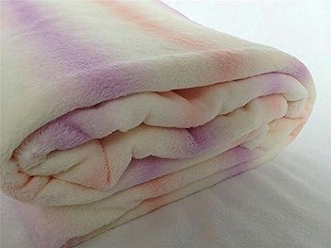 bduk Ruff Couvertures en polaire pour lit double couverture ultra doux Corail Vert D'Impression Et Teinture 1,5* * * * * * * * 2.0