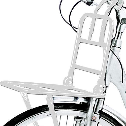"Schoberg Fahrrad Frontgepäckträger Vorne Frontträger Gepäckträger universal 24 bis 28""Holland Style Universalträger max. Zuladung 15kg (Weiss)"