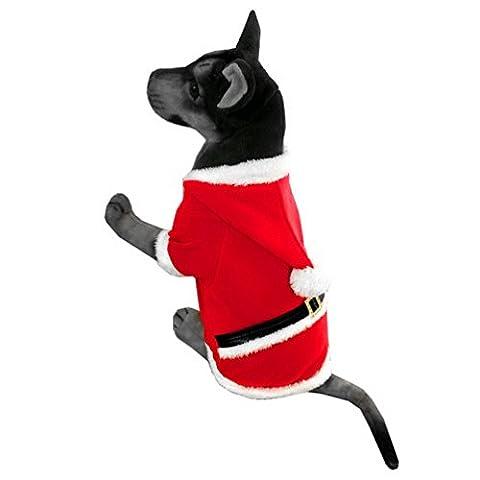 selmai les costumes de Noël pour chien Père Noël Pet