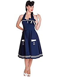 Hell Bunny Kleid MOTLEY 50'S DRESS navy blue