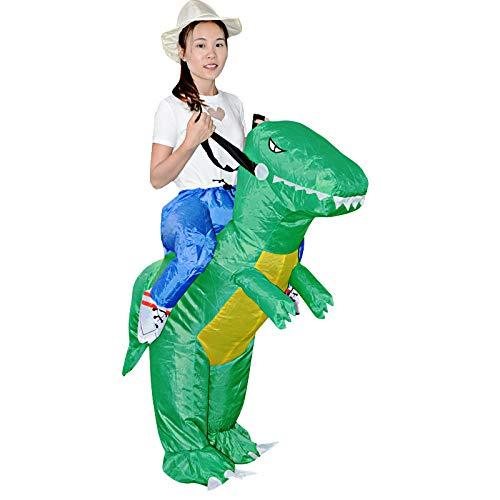 Up Besten Blow Kostüm - Mindruer Aufblasbare Dinosaurier Reiten T-REX Kostüm für Erwachsene Kinder Halloween Kostüme Cosplay Dress Up Blow up Kostüm