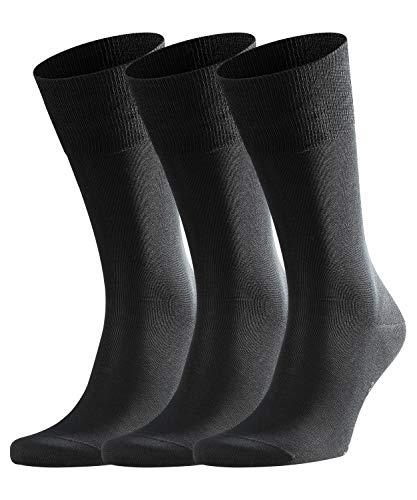 falke herrensocken FALKE Herren Socken Tiago, 3er Pack, Black, 41-42