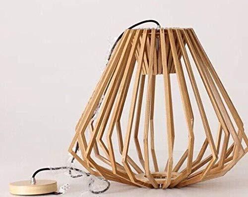WHKHY Flush Lamps Lights Holzindustrie Anhänger Massivholz Persönlichkeit Anhänger Diamant Bracket,52 * 46 cm -