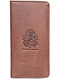 Style98 Purple Genuine Leather Passport Pouch||Slim Travel Wallet||Passport Wallet||Passport Holder