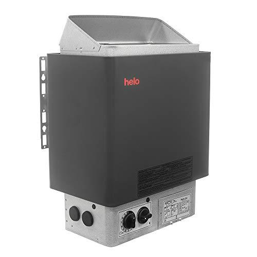 HELO CUP Elektrische Saunaofen, Leistungsbereich: 4.5 kW; 6.0 kW; 8.0 kW; 9.0 kW; mit integrierte Steuerung (Thermostat und Timer); Multispannung: 230V 1N / 400V 3N; (90STJ: 9.0kW mit 20kg Steine) - Integrierter Thermostat