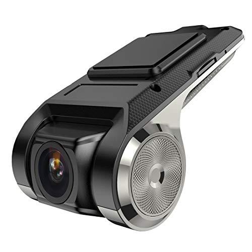 1080P HD Caméra Voiture Grand Angle 170°,Supercondensateur HDR Vision Nocturne Caméra Voiture avec Capteur-G, Enregistrement en Boucle