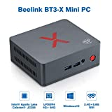 Beelink BT3-X Mini PC Computer Windows 10 RAM 4 Go LPDDR4 ROM 64 Go eMMC CPU Intel Apollo Lake J3355 GPU Intel HD Graphics 500 WiFi 2,4GHz+5,8GHz 1000 Mbps 4*USB3.0 BT4.0 Couleur Noire