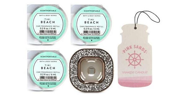 Bath And Body Works Duft Halterung Für Auto Mit Edelsteinen Mit 3 Duftenden Früchten Und Pappkarton Auto Duft Rosa Sands Küche Haushalt