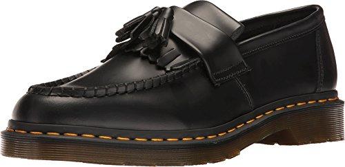 Dr.Martens Womens Adrian Black Leather Shoes 39 EU Dr Martens Moc Toe