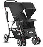 Joovy Caboose Ultralight Stand on Tandem Double Pushchair for Newborn (Black)