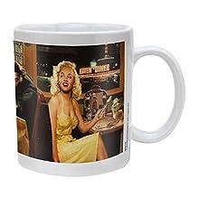 Empire Merchandising 686664 consani Chris Plate Special Blue mug en céramique Taille : diamètre : 8,5 x 9,5 cm