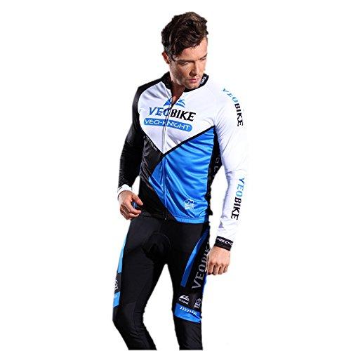 dung Set Langarmtrikot Hose Atmungsaktiv Schnell Trocken Männer Langarm-Radfahren Jersey Set Mountain Biking Anzug Kleidung Kompression Hosen (Für Männer Kleidung)