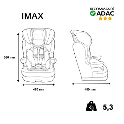 Autositz Disney Gruppe 1/2/3, 9bis 36kg-Herstellung 100% Französische-3Sterne Test TCS-5Figuren Disney-Protektoren seitliche-CALE Kopf gepolstert und verstellbar.
