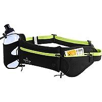 MOSSLIAN Running Belt, Sports Belt Running Belt con Botella de Agua Sports Running Fitness Deportes y Aire Libre para Teléfonos Móviles Elastic para Mujeres y Hombres Verde