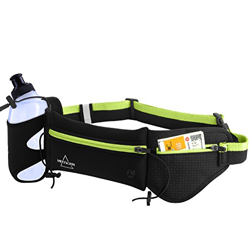 Running Belt, MOSSLIAN Sports Belt Running Belt con botella de agua Sports...