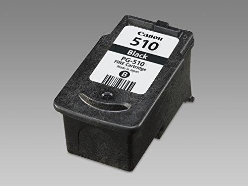 Canon PG-510 Cartucho de tinta original Negro para Impresora de Inyeccion de tinta Pixma MX320,330,340,350,360,410,420-MP230,240,250,252,260,270,272,280,282,480,490,492,495,499-IP2700,2702