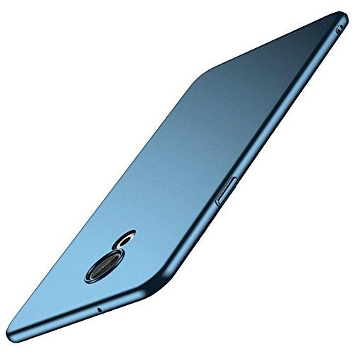 Richgle Blau Sehr Dünn Hülle Schutzhülle Case + Displayschutzfolie für Meizu 15 Lite (5.46