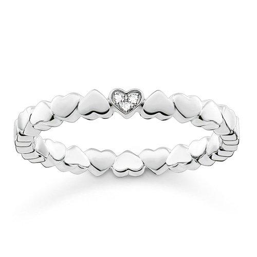 Thomas Sabo Damen-Ring Glam & Soul 925 Silber Diamant (0.05 ct) weiß Gr. 52 (16.6) - D_TR0013-725-14-52
