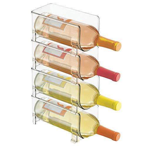 Práctico soporte para botellas de vino. Ordena tus bebidas en la cocina con el botellero de mDesign      Con el práctico sistema de almacenaje del expositor de vinos de mDesign puedes colocar tus bebidas y tus botellas de vino de manera horiz...