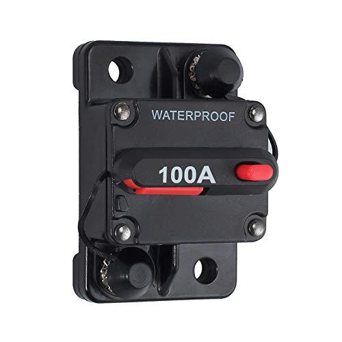 Disjoncteur étanche Maso de 30/100 Amp avec réinitialisation manuelle, convient pour moteur, voiture, bateau, vélo, audio stéréo, 12 V à 24 V CC