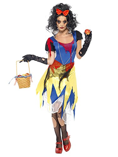 Schneewittchen Königin Kostüm Böse (Gothic Horror Märchen Prinzessin Halloween Damenkostüm blau gelb rot)