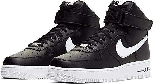 Nike Herren AIR Force 1 HIGH '07 AN20 Basketballschuh, Black White, 45 EU