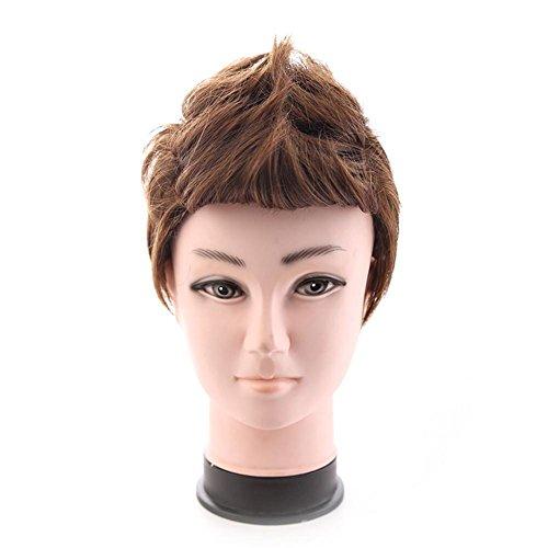 TT Junge personifizierte Art und Weise Perücke flauschige Mischung braune Perücke (Kurzen Braunen Bart Kostüm)