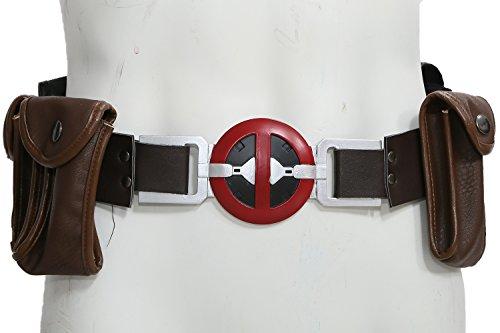 Xcoser Kostüms DP Gürtel Bund mit 4 Taschen PU Leder Cosplay Prop Film Kleidung Erwachsene (Komplette Kostüm Deadpool)