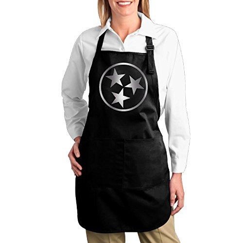 Funny MOPAD Tennessee State Flagge Logo Platinum Küche Schürze mit Taschen vorne (Flagge Schürze)