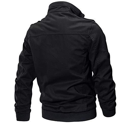 Imagen de chaqueta de hombre de bazhahei, ropa de hombre chaqueta abrigo ropa militar táctico outwear abrigo transpirable del chaqueta de manga larga de algodón de manga larga para hombres camisetas de hombre alternativa