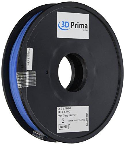 Prima 3dpccpla175bl 3d impresión filament, PLA, 1,75mm, 0.5kg bob