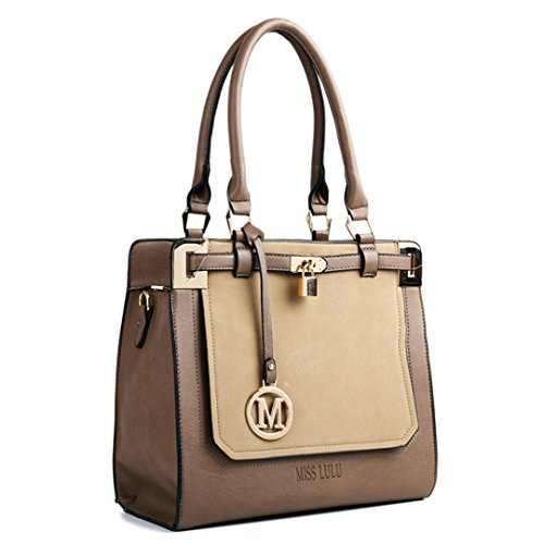 Miss Lulu, Borsa a mano donna 1607 brown