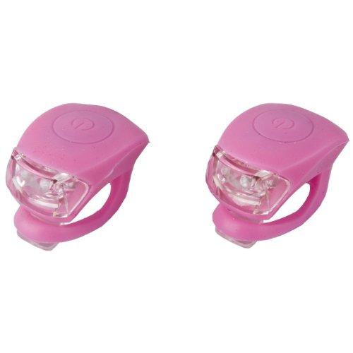 LED Mini Silikonlicht Lampe Silikonleuchte 2er Set, 2 Funktionen rosa