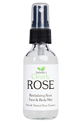 Stress Relief Spray (Isabella's Clearly ROSE, 100% Pure Rose Water, All Natural, Preservative Free, Additive Free. Facial Toner Spray, Body Mist, Linen Spray. Lovely Floral Fragrance. Aromatherapy for Face, Hair, Body and Mind. 2 Oz)