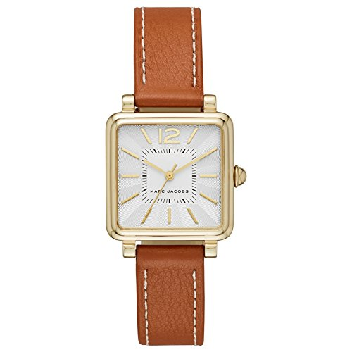 Marc Jacobs Women's 'Vic' Quartz Stainless Steel and Leather Casual Watch, Color:Brown (Model: MJ1573)