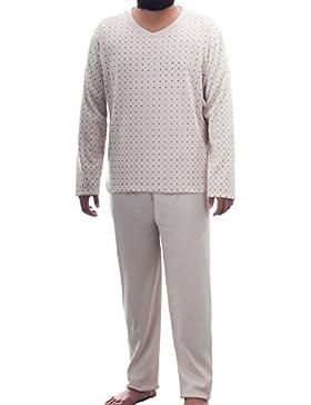 Lucky Hombre Térmica Pijama V patrón de corte angarauht con grafischen Pijama Invierno