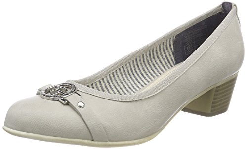 TOM TAILOR Damen 4892302 Pumps, Grau (Ice), 42 EU
