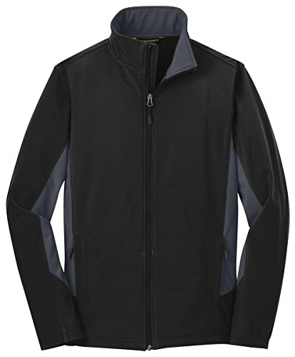 Port Authority Big et longue Veste imperméable pour homme Black/ Battleship Grey