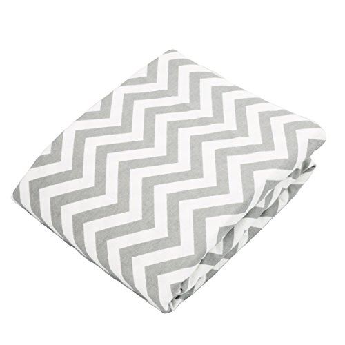 (Kushies Baby Portable Play Pen Sheet, Grey Chevron by Kushies)