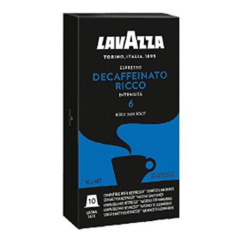 Lavazza espresso decaffeinato ricco - 3 confezioni da 10 capsule compatibili nespresso [tot. 30]