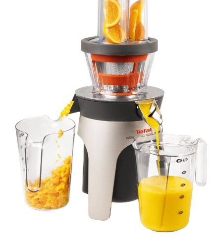 Tefal ZC500H40 Infiny Press Revolution Juicer with Two Filters for Juice/ Coulis, 300 Watt
