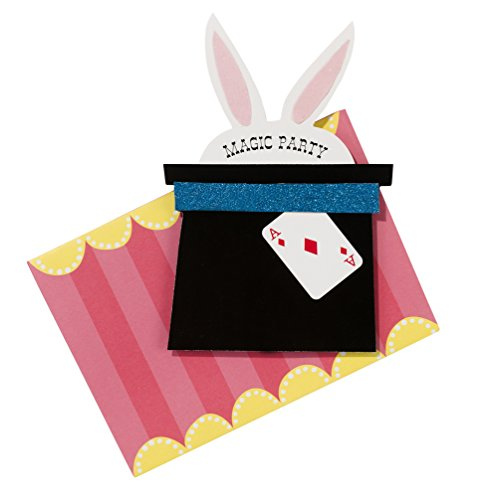 Talking Tables Magic Party Paper Party Invitations for a Birthday Party, Multicolor (12 Pack)