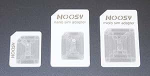Adaptateurs de Nano SIM à Micro, de Nano SIM à Standard SIM et de Micro SIM à Standard SIM - convertisseurs pour iPhone 5 - 4s - 4 - iPad 4 - 3 - 2 - mini - blanc