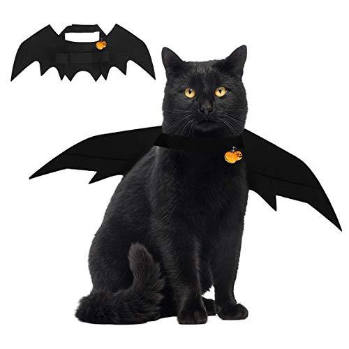 Professionell Gemachte Halloween Kostüm - Emopeak Halloween Katze Kostüm Fledermausflügel Haustier
