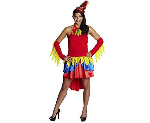 Papagei Damenkostüm (Kostüm Vogel Piraten)