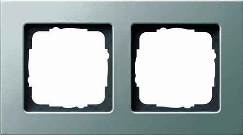 Preisvergleich Produktbild Gira 0212202 Abdeckrahmen 2 fach Gira E22 Edelstahl