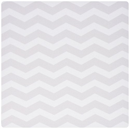 3dRose LLC 8 x 8 x 0.25 Inches Mouse Pad, Gray and White Chevron Zig Zag Pattern Modern Contemporary Grey Zigzag Stripes Silver Zig Zags (mp_120234_1)