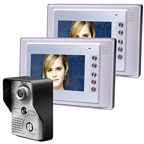 WG 7 Zoll Video Tür Handy Doorbell Intercom Kit 1-Kamera 2-Monitor Night Vision Outdoor Kamera