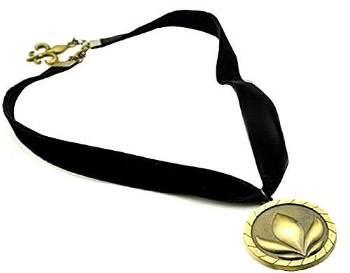 tt Kinderkette Kette Mädchen Halskette Cartoons Anna Mädchen Frozen Schlinge Medaillon Bronze Farbe Samt ()